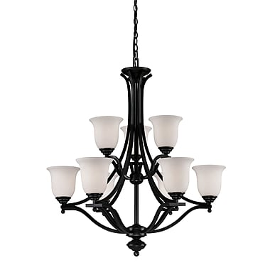 Z-Lite Lagoon (702-9-BRZ) 9 Light Chandelier, 31.75