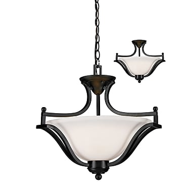 Z-Lite Lagoon (702SFC-BRZ) 3 Light Pendant, 19.5