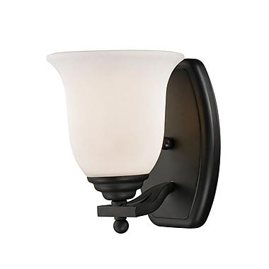 Z-Lite – Luminaire pour salle de bain Lagoon (703-1V-MB) à 1 lumière, 7,5 x 6 x 8 po, noir mat