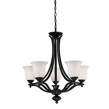 Z-Lite Lagoon (703-5-MB) 5 Light Chandelier, 26.5