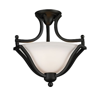 Z-Lite Lagoon (703SF-MB) 2 Light Semi-Flush Mount, 15