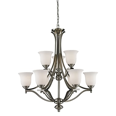 Z-Lite Lagoon (704-9-BN) 9 Light Chandelier, 31.75