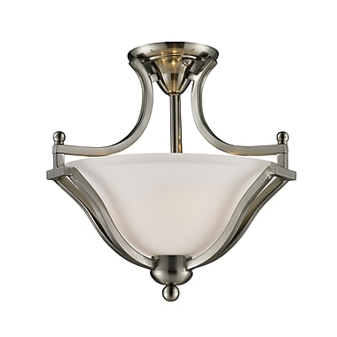 Z-Lite Lagoon (704SF-BN) 2 Light Semi-Flush Mount, 15