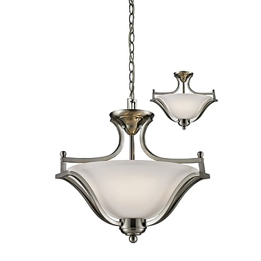 Z-Lite Lagoon (704SFC-BN) 3 Light Pendant, 19.5