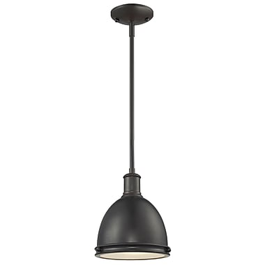 Z-Lite Mason 708MP-BRZ, 1 Light Mini Pendant, 8