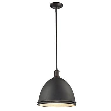 Z-Lite – Luminaire suspendu Mason (709P13-OB) à 1 lampe, 13 x 61,5 po, bronze d'époque