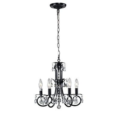 Z-Lite – Lustre Pearl (852BK) à 5 lampes, 15 x 15 po, noir