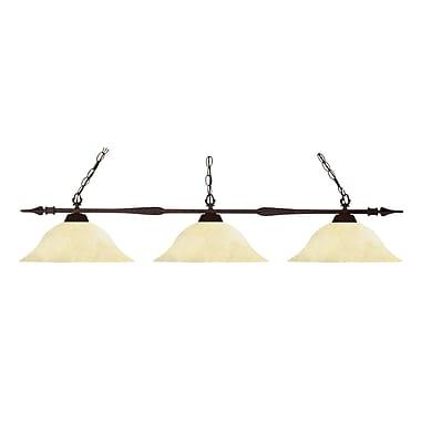 Z-Lite – Luminaire de billard Aztec (88103BRZ-GM16) à 3 lampes, 53 x 16 x 10 po, bronze