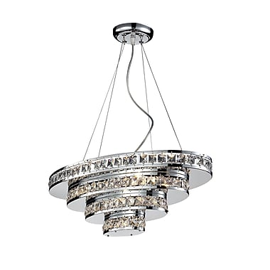 Z-Lite Ariel (884CH) 5 Light Crystal Chandelier, 23.5