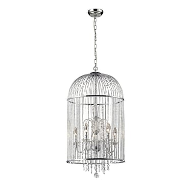 Z-Lite Avary (886CH) 5 Light Crystal Chandelier, 17.75