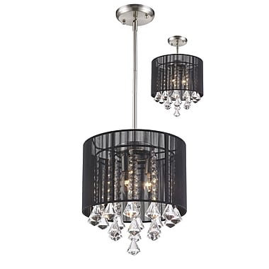 Z-Lite Aura (890-12BK-C) 1 Light Pendant, 12