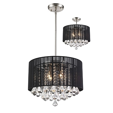 Z-Lite Aura (890-16BK-C) 4 Light Pendant, 16