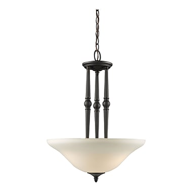 Z-Lite Clayton (904P) 3 Light Pendant, 17.75
