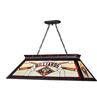 Z-Lite Tiffany Billiard Light (KD27RED) 4 Lights, 43.75