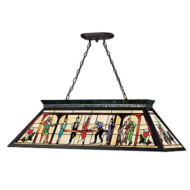 Z-Lite Tiffany Billiard Light (KD28) 4 Lights, 43.75