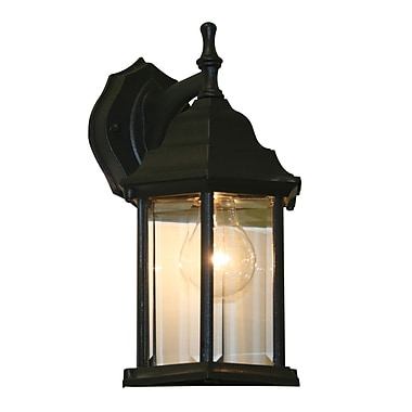 Z-Lite Waterdown (T21BK) 1 Light Outdoor Wall Light, 7.5