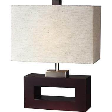 Z-Lite – Lampe de table à 1 lumière (TL105), 15 x 20 po, fini acajou