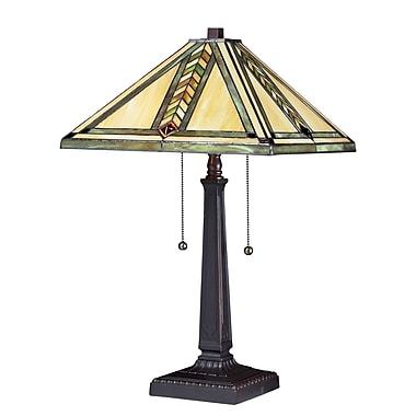 Z-Lite – Lampe de table à 2 lumières Shalimar (Z14-45TL) , 14 x 23 po, bronze marron