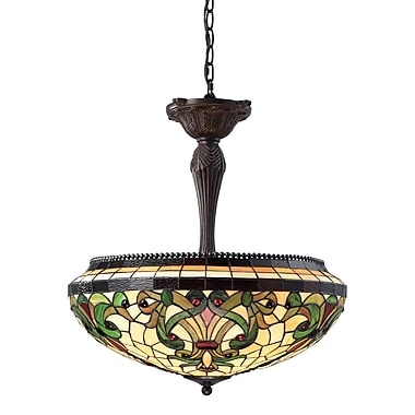 Z-Lite – Luminaire suspendu Templeton à 3 lumières (Z22-34P), 22 x 25 po, bronze marron