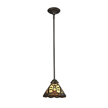 Z-Lite – Luminaire suspendu mini Jenova (Z8-46MP) à 1 lampe, 8 x 8 x 54 po, bronze marron