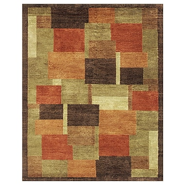 Feizy® Keystone Wool and Art Silk Pile Area Rug, Multi, 4' x 6'