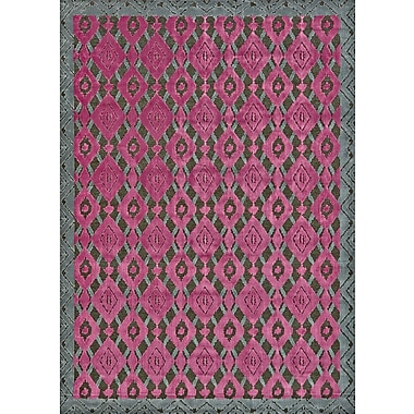 Feizy® Saphir Rubus Art Silk Pile Area Rug, Dark Gray/Raspberry, 2' 2