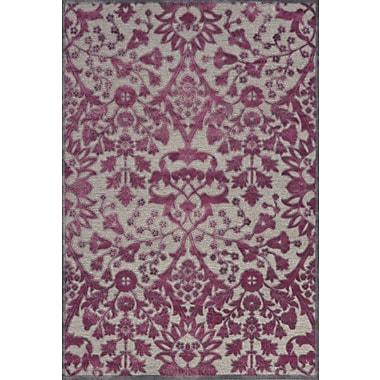 Feizy® Saphir Rubus Pewter/Raspberry Tribal Art Silk Pile Area Rugs