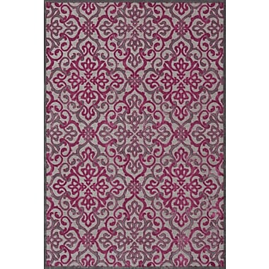 Feizy® Saphir Rubus Pewter/Raspberry Art Silk Pile Area Rugs