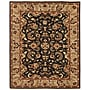 Feizy® Pietra Wool Pile Area Rug, Black/Ivory, 5'