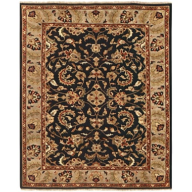 Feizy® Pietra Wool Pile Area Rug, Black/Ivory, 8' 6