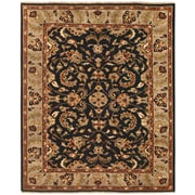 "Feizy® Pietra Wool Pile Area Rug, Black/Ivory, 5' 6"" x 8' 6"""