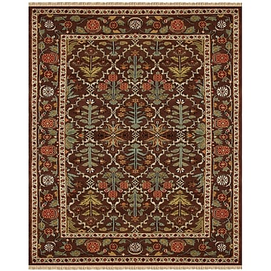 Feizy® Pietra Wool Pile Area Rug, Copper, 5' 6