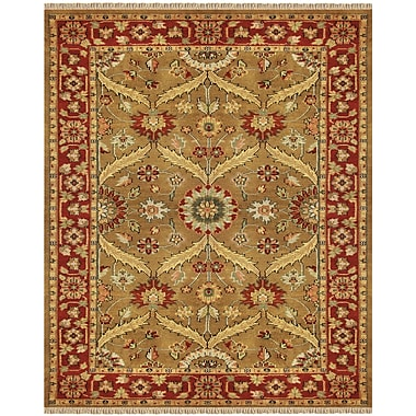 Feizy® Pietra Gold/Red Wool Pile Area Rugs
