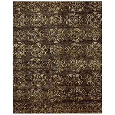 Feizy® Qing Wool and Art Silk Pile Area Rug, Brown, 8' 6