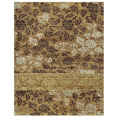 Feizy® Qing Gold Wool and Art Silk Pile Area Rugs