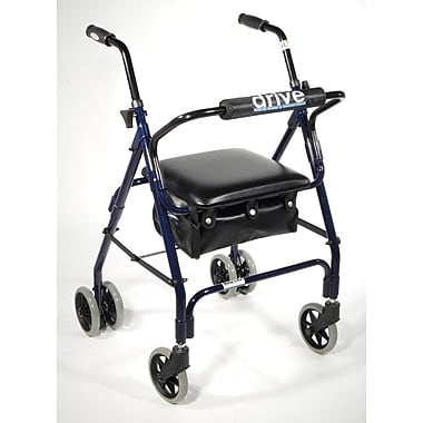 Drive Medical Mimi Lite Push Brake Rollator Walker