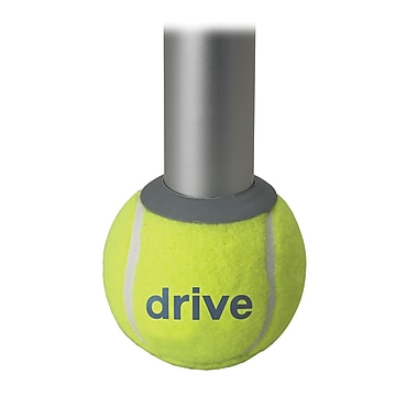 Drive Medical Walker Rear Tennis Ball Glides, Tennis Ball Box and Pads