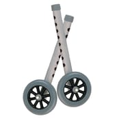 "Drive Medical 5"" Wheels with 2 Rear Glide Sets for Universal Walker, Gray"
