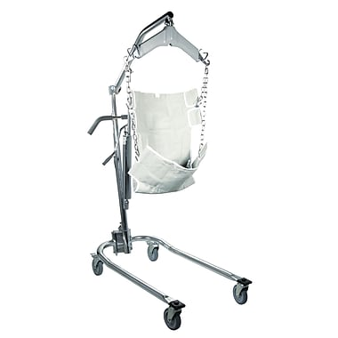 Drive Medical Hydraulic Patient Lift with Six Point Cradle, Chrome
