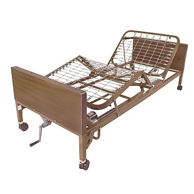 Drive Medical Semi Electric Bed, Half Rails, Therapeutic Bed