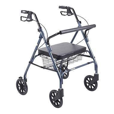 Drive Medical Heavy Duty Bariatric Rollator Walker with Padded Seat