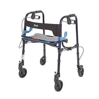 Drive Medical Clever Lite Rollator Walker, Flame Blue, Junior, 5