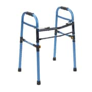 Drive Medical Two Button Folding Universal Walker, Blue