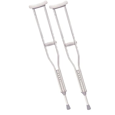 Drive Medical Walking Crutches with Underarm Pad and Handgrip, Youth