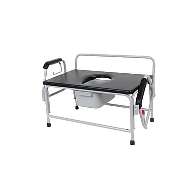 Drive Medical Bariatric Drop Arm Bedside Commode Seat, Extra Heavy Duty