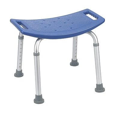Drive Medical Bathroom Safety Shower Tub Bench Chair, Without Back, Blue