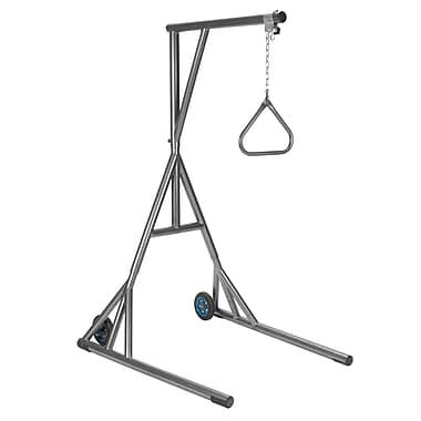 Drive Medical Heavy Duty Silver Vein Trapeze with Base and Wheels