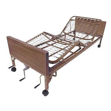 Drive Medical Multi Height Manual Hospital Bed, Full Rails, Therapeutic Bed