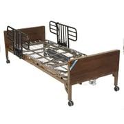 Drive Medical Delta Ultra Light Semi Electric Bed, Half Rails