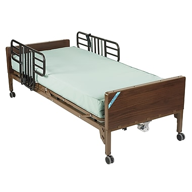 Drive Medical Delta Ultra Light Semi Electric Bed, Half Rails, Innerspring Bed